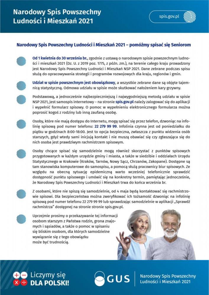 Narodowy Spis Powszechny Ludności i Mieszkań NSP 2021
